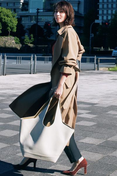 【10/4のコーデ】トレンチコーデに似合う新・相棒バッグみつけた!