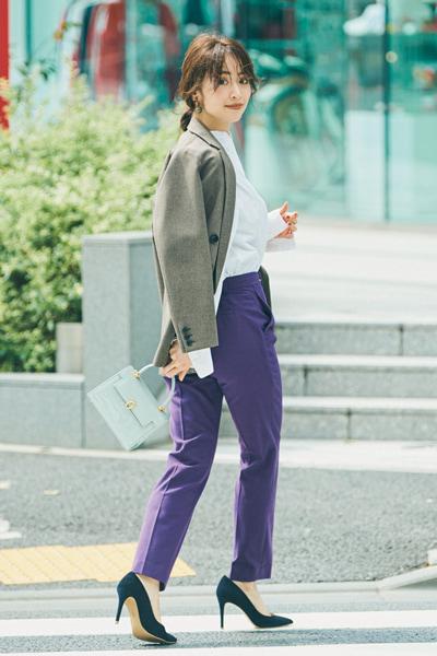 【10/30のコーデ】スティックパンツを主役にハンサムな着こなしを!