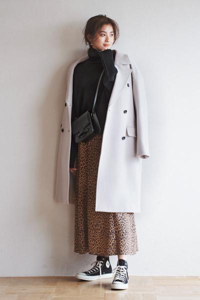 【11/24のコーデ】ニュアンスカラーのコートでまろやかコーデ