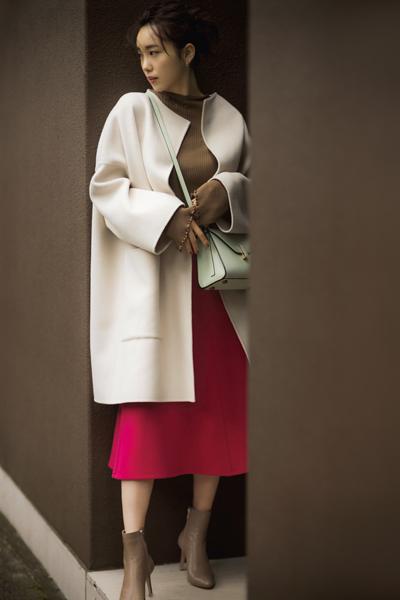 【12/4のコーデ】女子会の日はスイーツのようなきれい色ミックスに挑戦♡