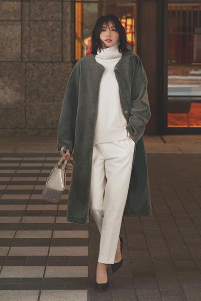 【12/20のコーデ】リッチな女らしさを与えてくれるのはボリューミーなボアコート!