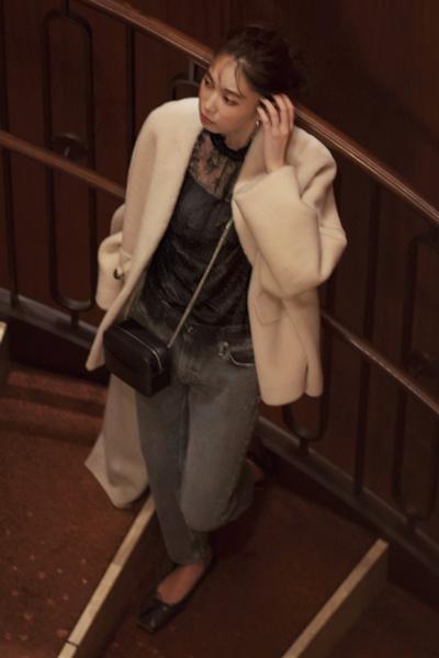 【12/22のコーデ】リッチなボアコートで仕上げる大人の華やぎスタイル!