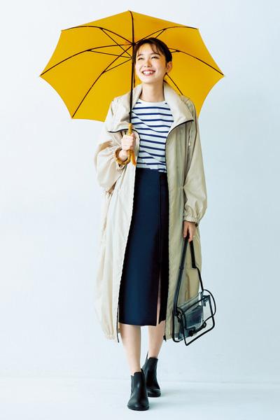 【6/10のコーデ】雨模様の日はレインコート×ブーツで完全防備♪