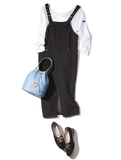 【8/1のコーデ】オフィスでも着られる♡ ジャンパースカートのスタイリング例