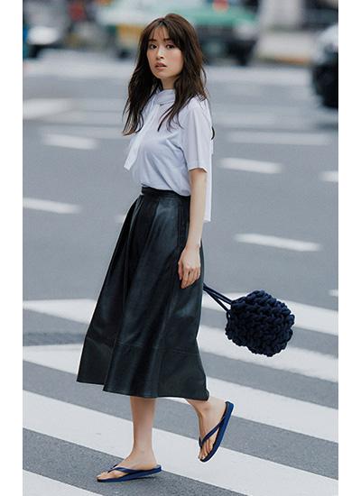 【9/20のコーデ】レザースカートで秋のエッセンスを取り入れて