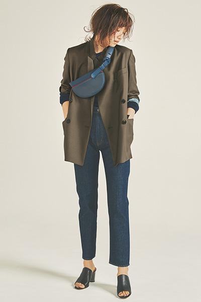 【3/16のコーデ】ゆるジャケットをラフに着こなしてトラッドに遊びを