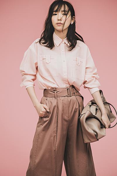 【3/23のコーデ】ピンクのグラデーションで差のつく春の通勤服
