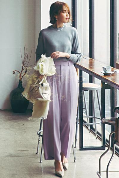 【4/29のコーデ】春らしい「くすみ系きれい色」を纏って♡