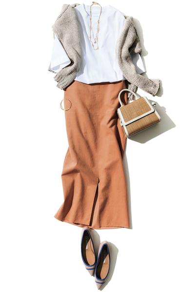 【7/12のコーデ】好感度抜群! 女前なタイトスカートをリラクシーに仕上げて
