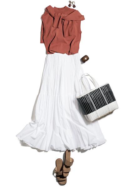 【7/26のコーデ】ボリュームあるスカートでドラマティックに♡
