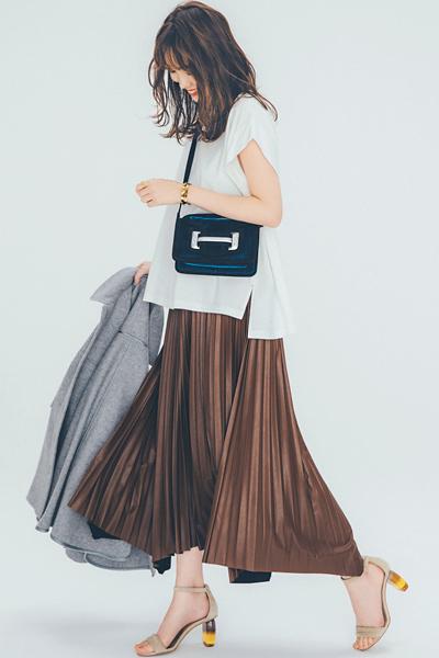 【8/1のコーデ】秋まで使えるエコレザーでシンプルな着こなしに差をつける!