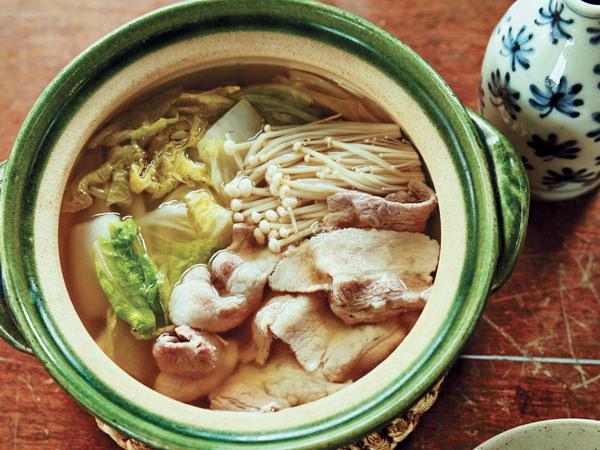 白菜と豚バラの一人鍋