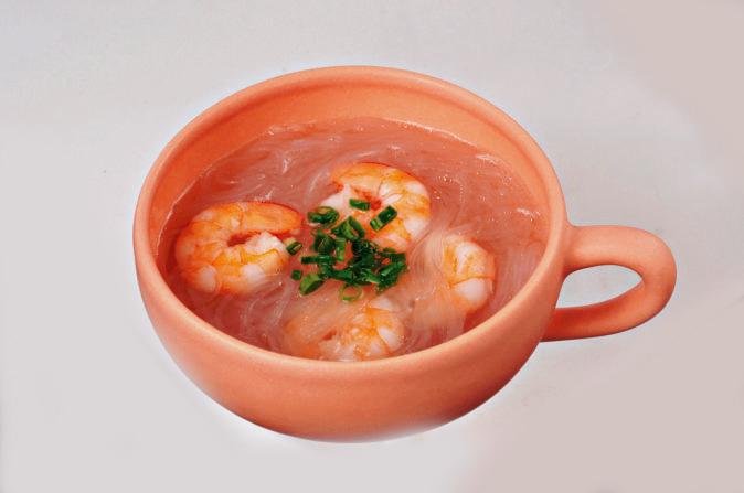 えびと春雨の中華スープ