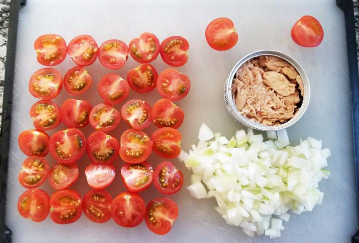 ミニトマトとツナのさっと煮