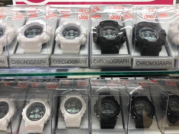 G-SHOCK風多機能腕時計