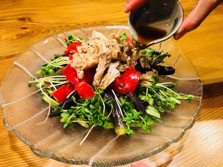 野菜の冷製サラダ