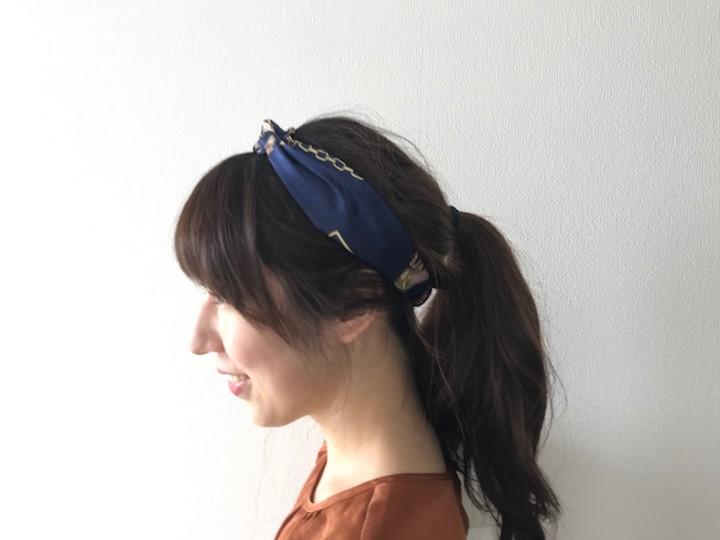 リボン型になったヘアバンド